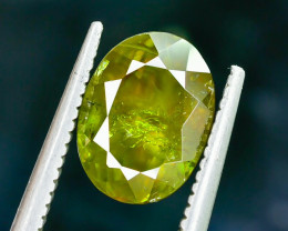 2.50 Crt Natural Chrome Sphene Faceted Gemstone