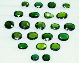 19.15Crt Natural Chrome Tourmaline  Faceted Gemstone Lot 5