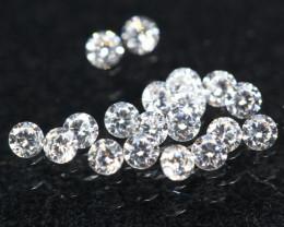 1.20mm 19Pcs D/F/VS Natural White Diamond  C2405