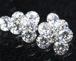 1.40mm D/F/VS Natural White Diamond 13Pcs C2409