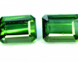 2.75 CT. Emerald Green Color Natural Tourmaline Gemstone Pair