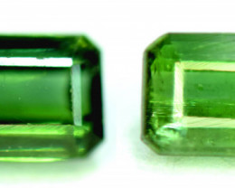 3.25 CT. Emerald Green Color Natural Tourmaline Gemstone Pair