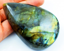 Genuine 846.00 Cts Golden Flash Labradorite Pear Shape Cab