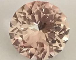 Custom Cut Glittering 1.70ct Peach Tourmaline, - Tanzania G604