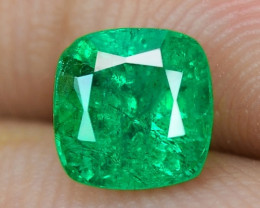 0.83 Cts NATURAL EARTH MINED GREEN COLOR COLOMBIAN EMERALD LOOSE GEMSTONE