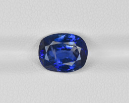 Blue Sapphire, 3.67ct - Mined in Kashmir | Certified by GIA & GRS