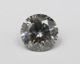 1.50ct Natural Fancy light Grey Diamond IGI certified / salt and pepper