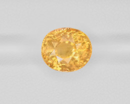 Yellow Sapphire, 7.03ct - Mined in Sri Lanka | Certified by GRS