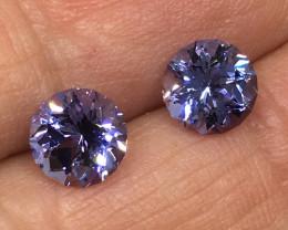 3.35 Carat VVS Tanzanite Spectacular Custom Cut Pair ! Equisite Quality !