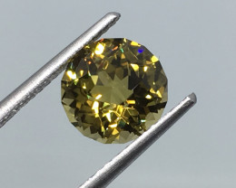 2.46 Carat IF CERT. Tourmaline Canary Yellow Master Cut Extremely Rare !