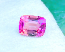 2.25 Carats Natural Stunning Rubelite Tourmaline Cushion Cut