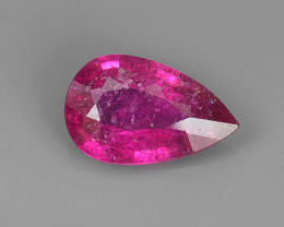4.40 CTS  AMAZING NATURAL RARE LUSTROUS PINK RUBELITE PEAR GEM!!
