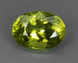 CERTIFICATED~4.21 CTS~STYLISH TOP RARE NATURAL GREEN GROSSULAR GARNET GEM!!