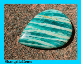 30mm Amazonite cabochon drop pear shape 30 by 22 by 4.5mm 22ct