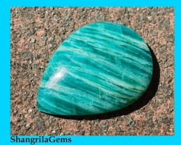 28mm Amazonite cabochon drop pear shape  28 by 21 by 5mm 21ct