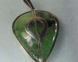 Prehnite ~ pendent ~ pears silver designs 109.75cts