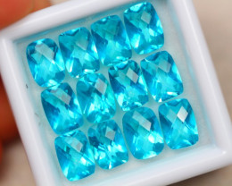 13.24ct Paraiba Color Topaz Octagon Cut Lot D01