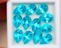 12.10ct Paraiba Color Topaz Pear Cut Lot D04