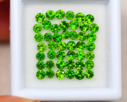 3.37ct Chrome Diopside Round Cut 2.5mm Lot D10
