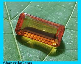 18mm rectangle cut Madeira Citrine rich deep orange 11.6ct