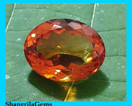 16.2mm oval Madeira Citrine rich deep orange red 16.2 by 13.4 by 9mm 11.8ct