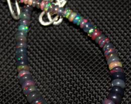20 Crt Natural Ethiopian Welo Fire Smoked Opal Beads Bracelet 409