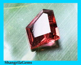 9.3mm Pink Tourmaline irregular free form cut rubellite 1.38ct 9.3 by 7.8 b