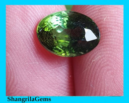 9.1mm bi color green tourmaline oval cut 2.22ct 9.1 by 6.7 by 5.7mm