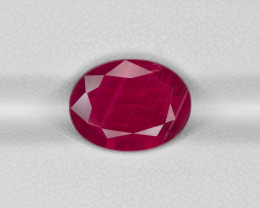 Ruby, 4.14ct - Mined in Mozambique | Certified by GRS & IGI
