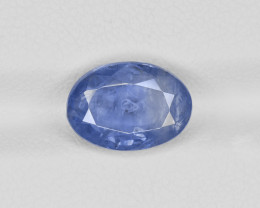 Blue Sapphire, 4.56ct - Mined in Kashmir   Certified by GIA & GRS