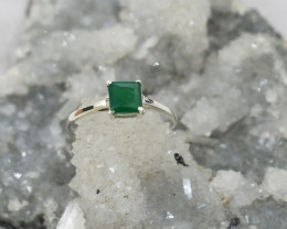 GREEN ONYX RING 925 STERLING SILVER NATURAL GEMSTONE JE2071