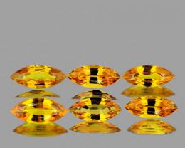 5x2.5 mm Marquise 6 pcs 1.00ct Yellow Sapphire [VVS]