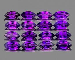 6x3 mm Marquise 16 pcs 3.57cts Purple Amethyst [VVS]
