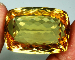 97.48ct.  Antique 100% Natural Top Rich Yellow Citrine Unheated Gem Big!