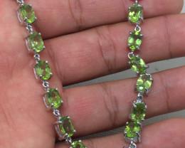 ( B11) Brilliant Natural 56.0tcw. Peridot  Bracelet