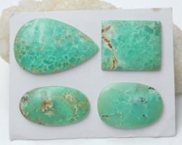 4pcs Semi Precious Green Chrysoprase Gemstone, Chrysoprase Cabochons C964