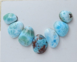 120cts Natural Larimar Gemstone Cabochons,Skyblue Larimar Cabochons C966