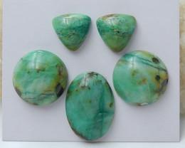 78Cts Natural Chrysocolla Gemstone Cbaochons ,Chrysocolla Beads C967