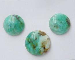 124Cts Natural Chrysocolla Gemstone Cbaochons ,Chrysocolla Beads C968