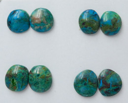 112Cts Natural Chrysocolla Gemstone Cbaochons ,Chrysocolla Beads C969
