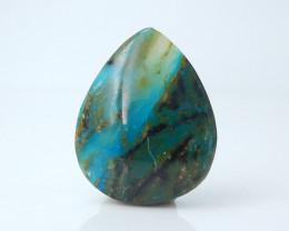 Rare Blue 13.5cts Blue Opal Cabochon, October Birthstone, Blue Opal Bead C9