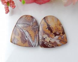 26.5cts Chohua Jasper Cabochon Pair, Chohua Jasper Beads ,jewelry making C9