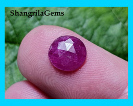 8mm Ruby rose cut 8 by 1.85mm heat only mozambique 1.15ct approx