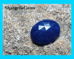 9mm oval blue sapphire rose cut 9 by 7mm approx 1.8ct approx