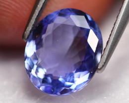 2.64Ct Natural Tanzanite VVS D Block Purplish Blue C2801