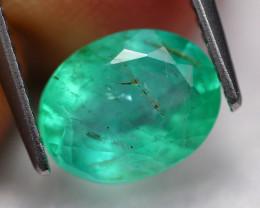 1.92Ct Colombian Emerald Natural Muzo Neon Green Emerald C2809