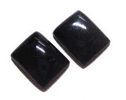 4.62cts Onyx Matching Rectangular Buff Tops