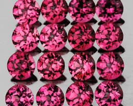 2.70 mm Round Machine Cut 25 pcs 2.35cts Reddish Pink Rhodolite [VVS]
