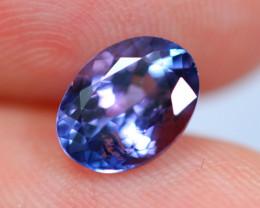 1.50cts Natural Violet Blue D Block Tanzanite / WW58
