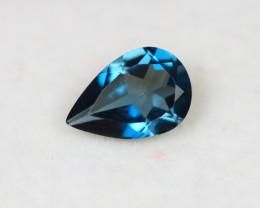1.31Ct London Blue Topaz Pear Cut Lot Z364